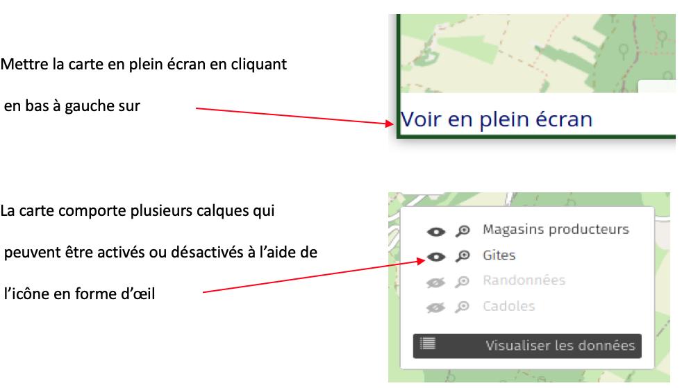 comment utiliser la carte interactive de Cortevaix