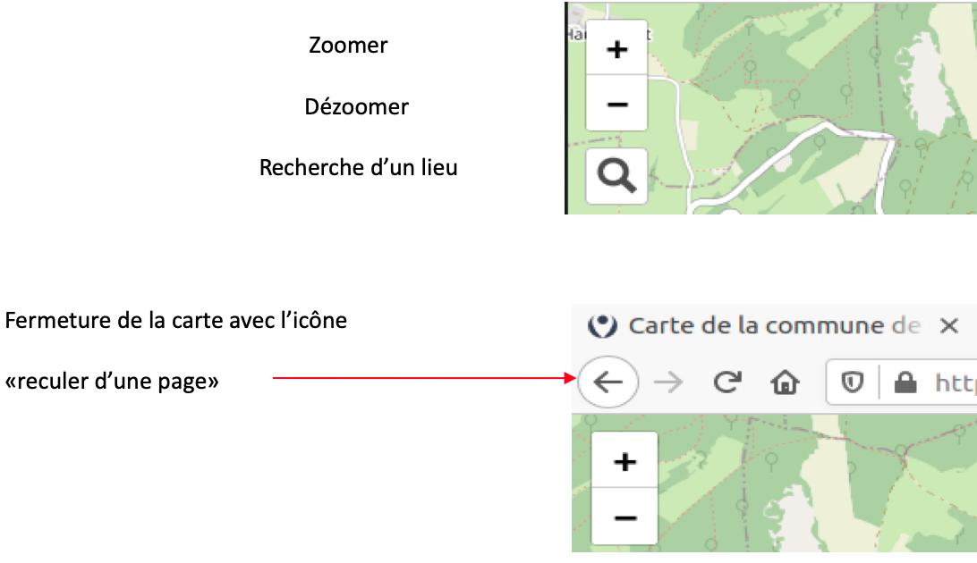notice pour l'utilisation de la cartographie
